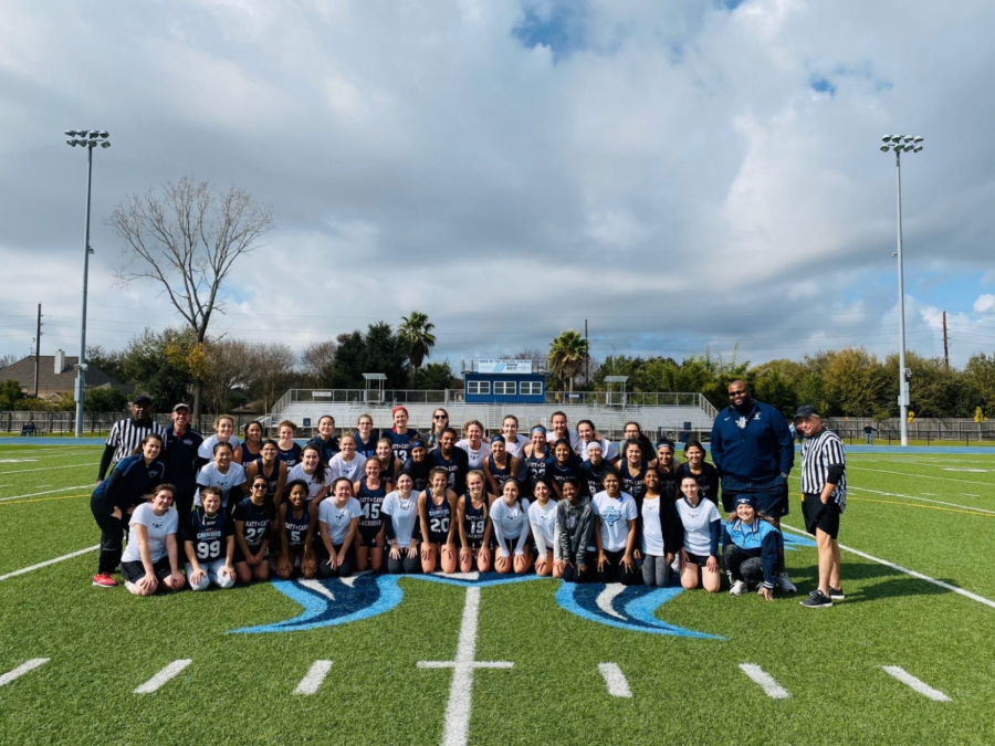 The Village GLAX team after playing their first scrimmage