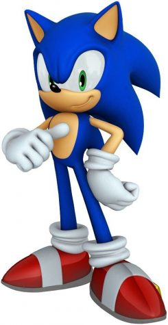 A photo illustrating Sonic in all his glory showing off his quickness and elusiveness