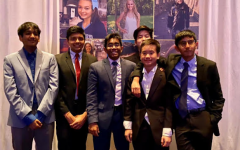 [From left to right] Saurya Nannapaneni (9), Parth Gupta (9), Pavithr Goli (12), Christopher Zhang (9), Nathan Dumrongthai (9), and Rohan Bendapudi (9) gather for a photo at LLS Gala Night.