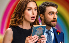 "A scene during ""Kimmy vs. the Reverend"" between Kimmy Schmidt (Ellie Kemper) and her soon-to-be husband  Prince Frederick (Daniel Radcliffe)."