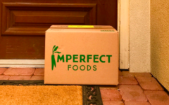 An Imperfect Foods package delivered to a house