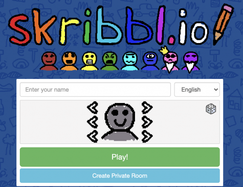 Screenshot of the website of party game Skribbl.io