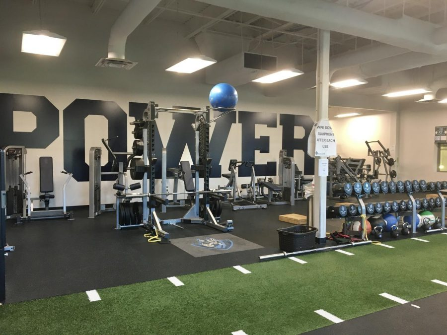 The weight room has been put to great use this semester for athletes to build up their strength and conditioning.