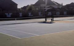 A picture of the school tennis courts where tryouts took place.