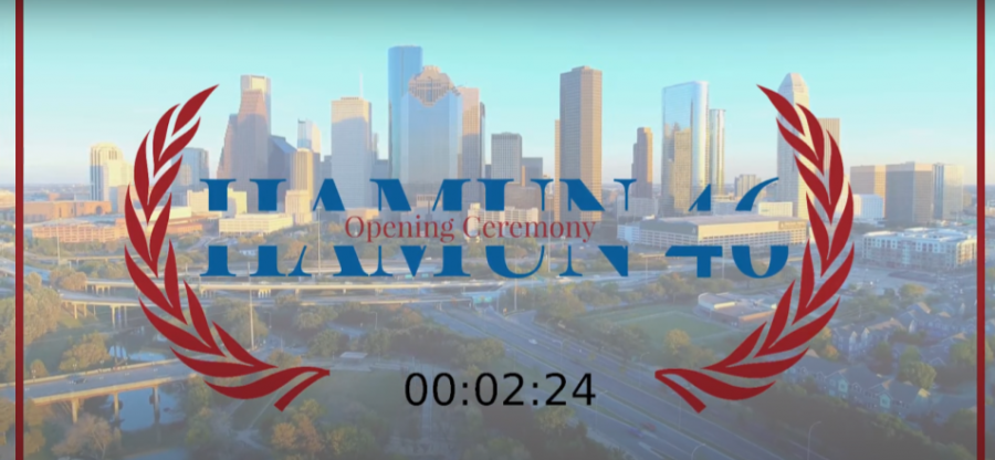 A countdown to opening ceremonies on the HAMUN youtube livestream.