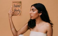 Author Rupi Kaur posing at the cover launch of her new poetry collection, Home Body.