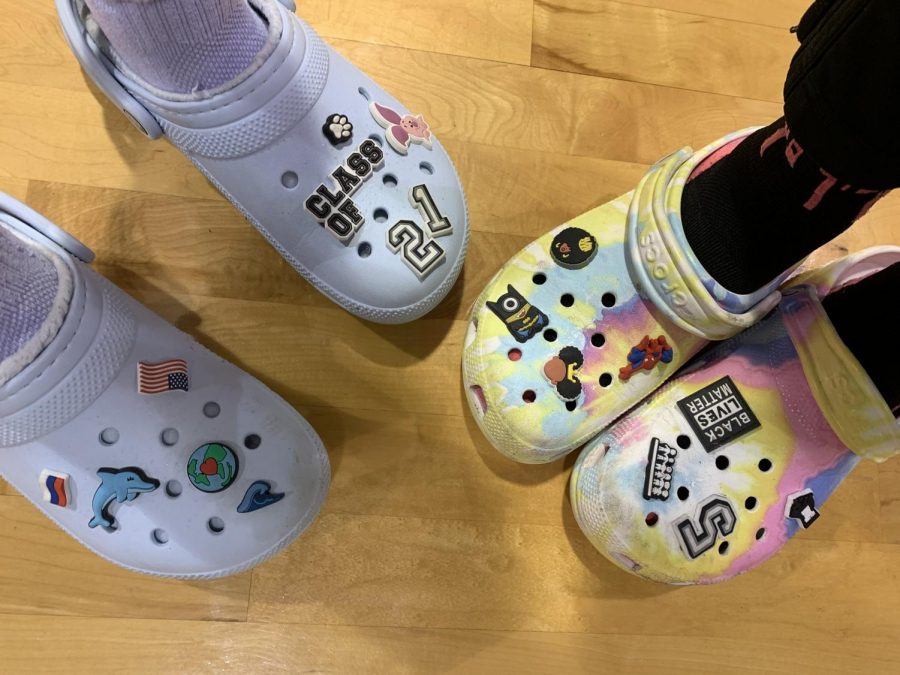 If youre not CROCIN U not ROCKIN!! Vikings show off their crocs and go-to shoes after finishing a hard day of practice. Each jittiz helps display their creativity and things that they like or enjoy.
