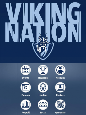 The main page of the Viking Nation app, and some of the options it offers