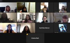 Zoom screenshot of a Girls of Computer science club meeting.