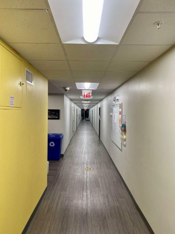 Students who arrive at the dorm must quarantine on the first floor by themselves and take a Covid-19 test to help limit the spread.