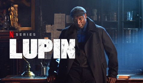 Show poster of Lupin, picturing its protagonist.