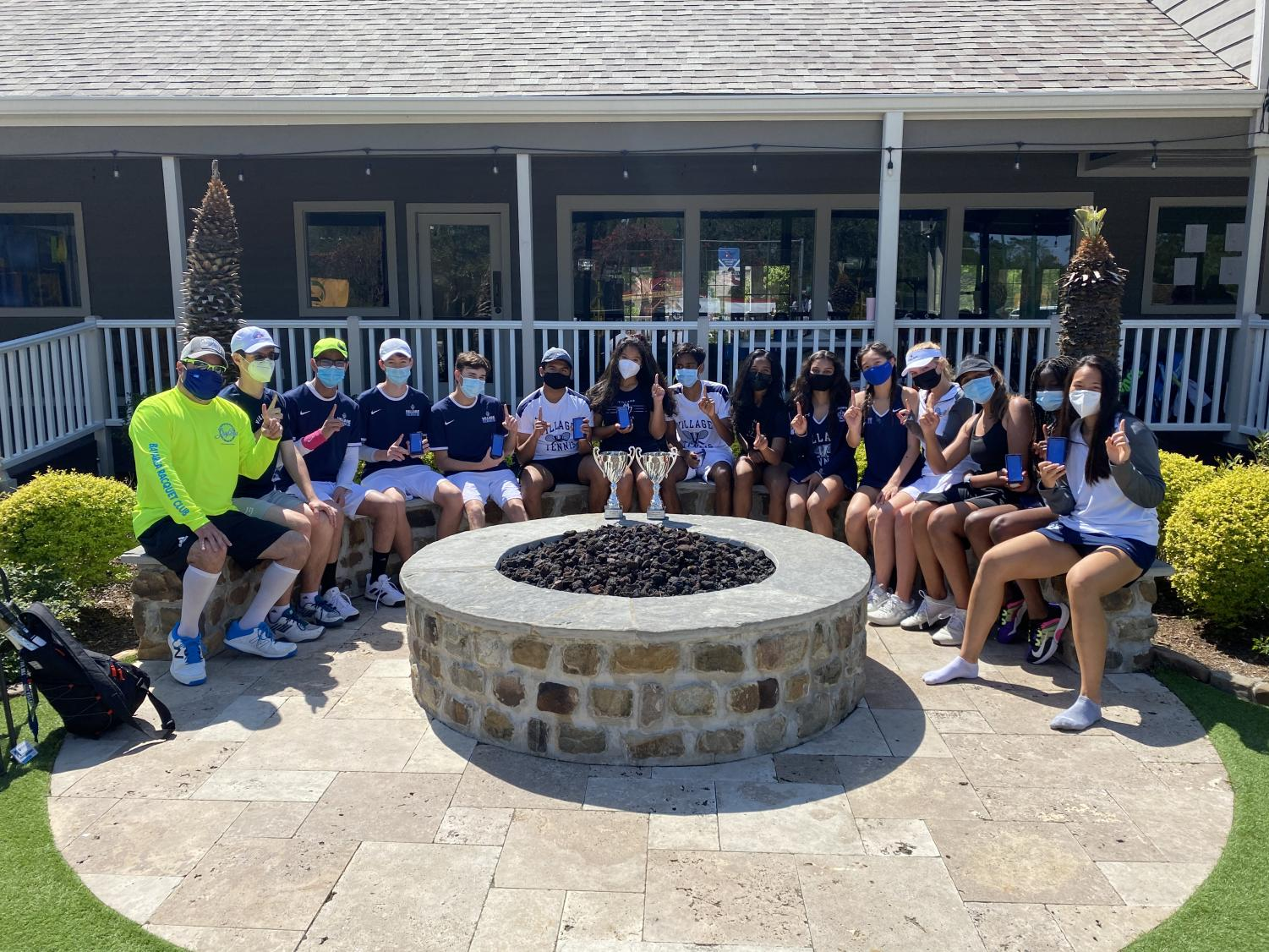 At the TAPPS District tournament, the girls were finalists, placing second, and the boys became champions, winning the tournament.